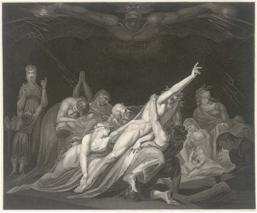 Henry Fuseli (1741–1825), The vision of the Lazar-House, 1813