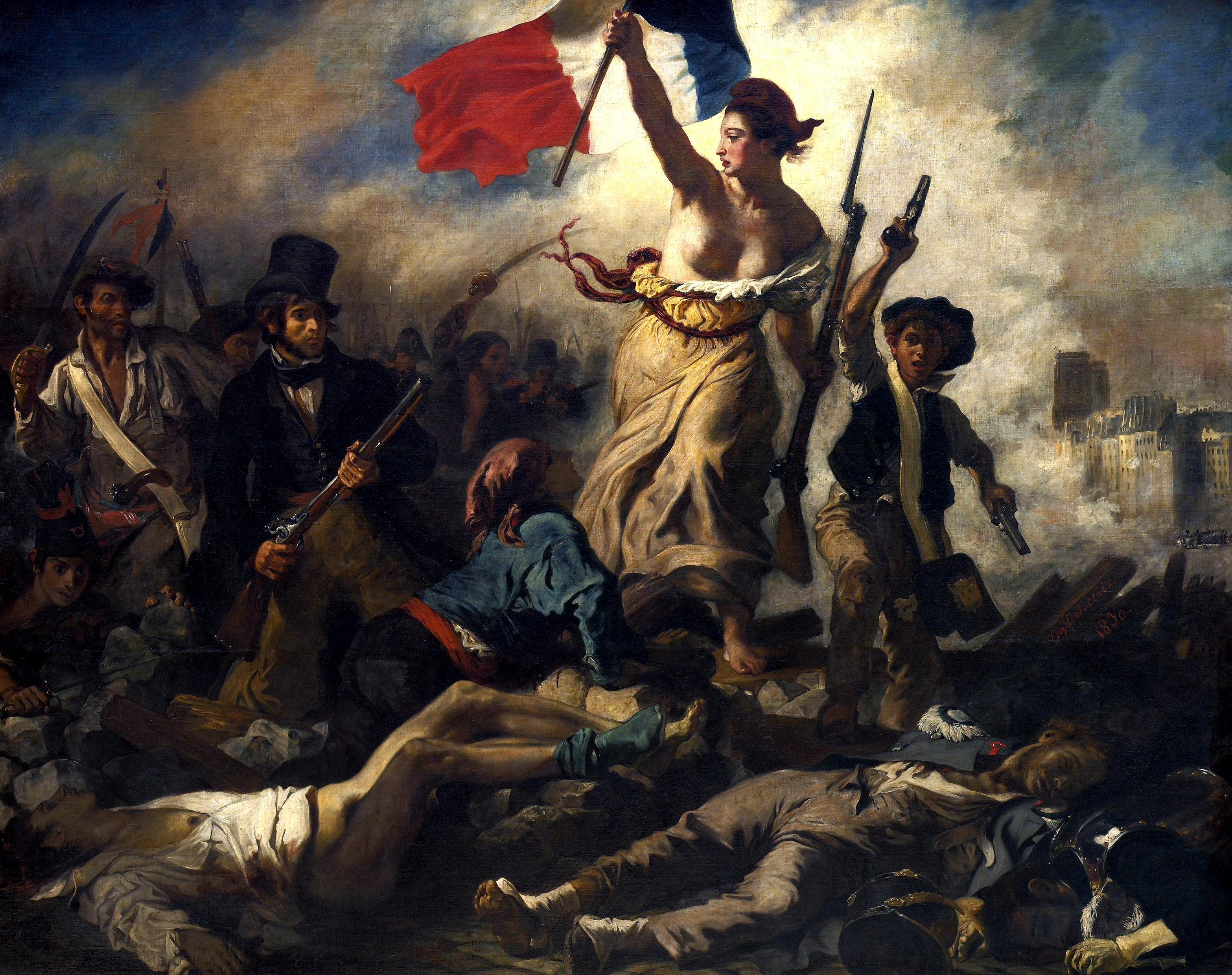 Eugène Delacroix - La liberté guidant le peuple, 1830